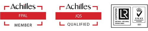 Achilles FPAL Member, Achilles JQS Qualified, LR Certified
